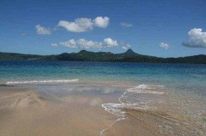 Mayotte einsamer Strand